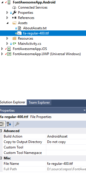 Using FontAwesome 5 in Xamarin Forms – Wintellect