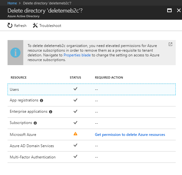 How to REALLY delete an Azure Active Directory B2C tenant