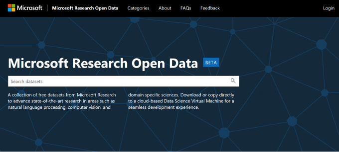 Microsoft Research (MSR): Microsoft Research Open Data