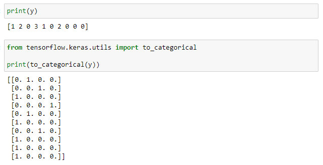 to_categorical function
